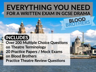 Blood Brothers Drama Written Exam Bundle