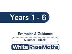 White Rose Maths - Summer - Block 1 - Years 1 - 6