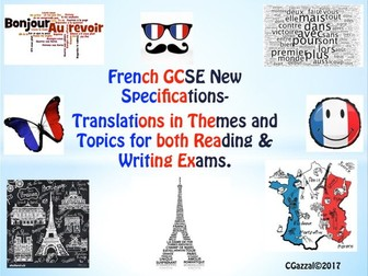 French GCSE New Specifications - Translations into French and English.