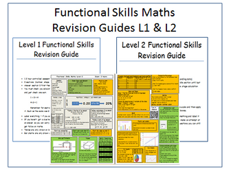 Functional Skills Maths Revision Bundle both levels