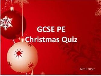 AQA GCSE PE Christmas Quiz (New Spec)