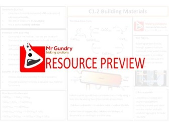 AQA C1.2 Building Materials Revision Sheet