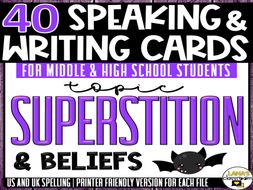 Superstition | ESL/ELL/ELA Speaking and Writing Activities | For Teens | BUNDLE