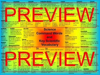 AQA KS4 Glossary Command Words and Science Specific Vocabulary