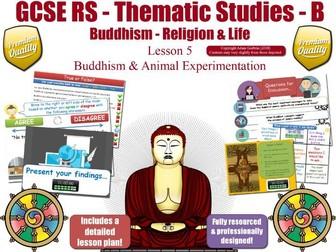 Animal Experimentation - Buddhist Views (GCSE RS - Buddhism -Religion & Life) L5/7 [rights, testing]