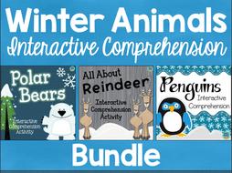 Winter Animals Interactive Comprehension Bundle