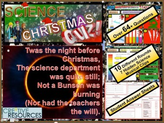 End of Year Science Christmas Quiz