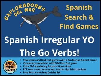 Juego de Presente de Verbos Irregulares en la forma de YO *Spanish Regular Present YO GO verbs