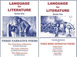 Language for Literature and Narrative Poems 4 SoW Bundle