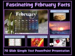 February  Facts SIMPLE TEXT Presentation