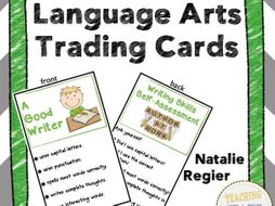 Language Arts Trading Cards: Mini Anchor Charts and Self-Assessment Questions