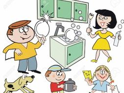 French - household chores - add me to your lesson plans to save time