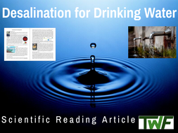 Desalination for Drinking Water Comprehension Reading