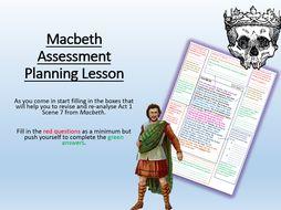 Macbeth Assessment Planning Lesson