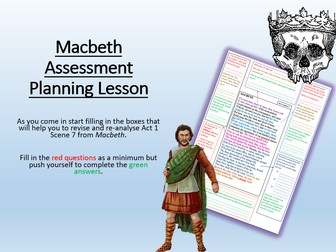Macbeth Assessment Planning Lesson