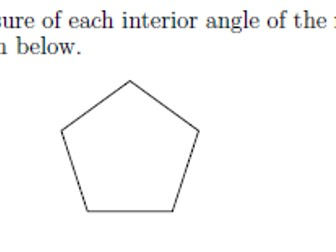 Interior and exterior angles in regular polygons worksheet (with ...