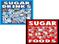 *BUNDLE* 3 SETS OF RESOURCES - SUGAR DRINKS AND SUGAR FOODS - HEALTHY EATING