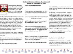 The Nazis: A Warning .... Chaos & Consent- GCSE History 9-1 Support Worksheet for BBC TV Documentary