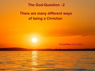The God Question - 2 The Creation Story