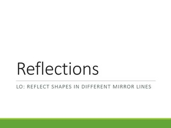 Transformations - Reflections