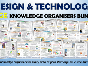 Huge Primary Design and Technology Knowledge Organisers Bundle!