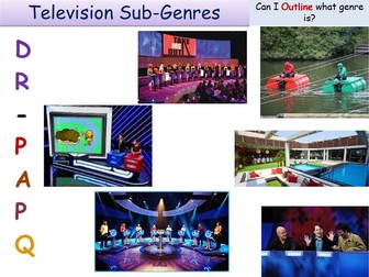 TV Game shows Genre and Sub-genre GCSE Media Studies UNIT 1 Media Exams TV Game Shows