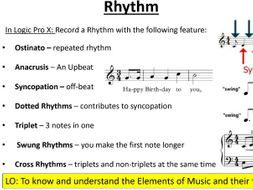 OCR GCSE: Elements of Music  Presentation with Logic Pro activities