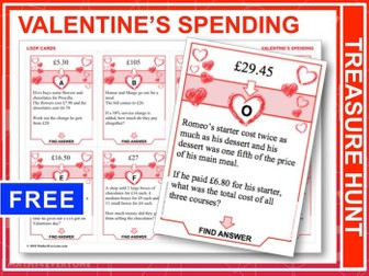 Valentine's Day Maths (Treasure Hunt)