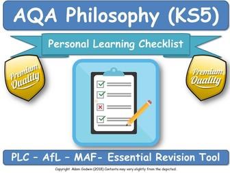 AQA Philosophy: 4 x PLC / DIRT Worksheets Bundle