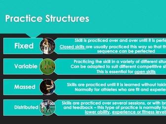 Edexcel GCSE PE - Practise Structures