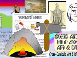 KS2 Stone Age Art and DT 6 Lesson COMPLETE Cross-Curricula Unit. Highly Creative, Original and Fun.