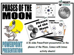 Phases of the Moon PowerPoint and Activity Sheets