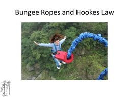 Hookes Law, Bungee Rope and Spring Extension Lesson