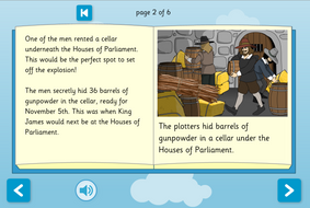 Guy Fawkes Interactive Storybook - Early Reader Level - Guy Fawkes KS1