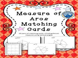Measures of Arcs Matching Card Set