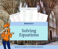 Solving Equations Worksheet for Stages 5 & 6