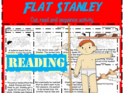 Flat Stanley Reading Task: Read & Sequence cut and paste