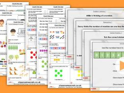 Year 1 Count One Less Autumn Block 1 Step 7 Maths Lesson Pack