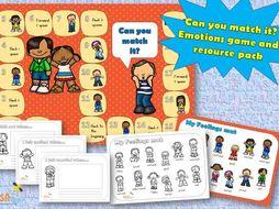 Match it! - emotional literacy, emotional intelligence, mental health, emotions