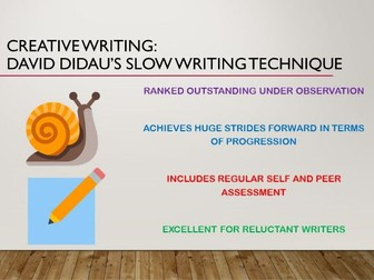 Creative Writing: David Didau's Slow Writing Technique