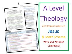 A Level Religious Studies: Model Essays for Theology - Jesus Christ