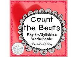 Syllable Counting Valentine's Day/Heart Theme
