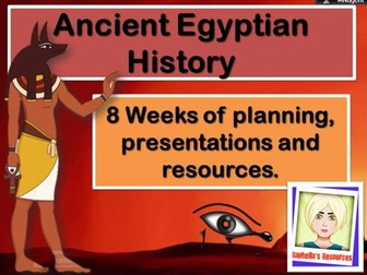 Ancient Egypt  - Complete 8 Week Scheme of Work.  NC 2014 linked
