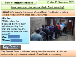 Food security in the UK - Food banks