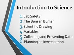 Year 7 Introduction to Science SOW - 6 Lessons