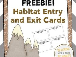 Habitat Entry and Exit Cards FREEBIE!