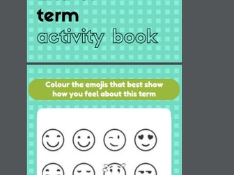 End of Term Activity Sheets Booklet