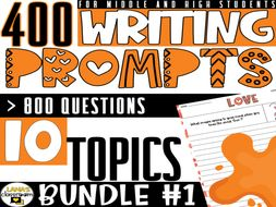 Daily Writing Prompts for Middle and High School | BUNDLE#1
