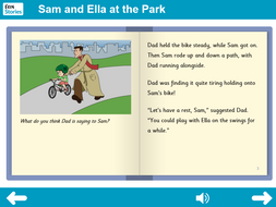KS1 PSHE - 'At the Park' interactive storybook - Independent reader level