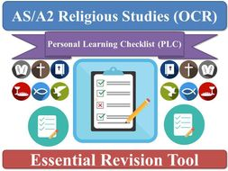 AS Religious Studies (New OCR Spec) Personal Learning Checklists (x2) [Philosophy & Ethics sections]